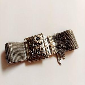 Vintage whiting & davis chain mesh silver bracelet